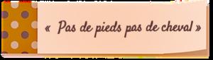 post-it pas de pieds parage